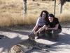 Jessica & Kristine at the cheetah rescue