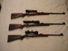 My three rifles, built as close to exactly alike as possible