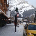 The view from Main Street in Banff, Alberta