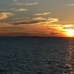 Sunset on the Core Sound