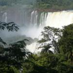 Iguazu Falls as seen from the upper trail.