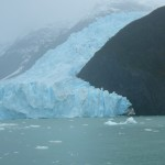 This is the far right side of the glacier with more ice being added from another ice field.