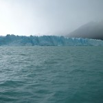 Pictures can't do the glacier justice. The ice face is almost two miles long.