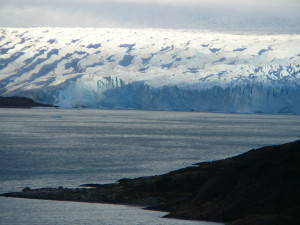 A zoomed in view of Perito Moreno gives you a taste of just how big this piece of ice is.