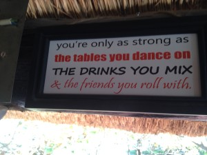 The Fish Eagle Lodge had small entertaining signs all over. This was one of my favorites.
