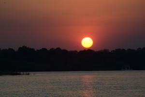 Our last sunset on the Zambezi.