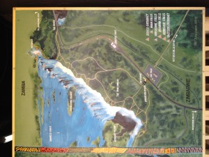 A map of the Victoria Falls and it's trail system.