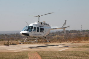 Our helicopter. (photo courtesy of Zambezi Helicopter Co.)