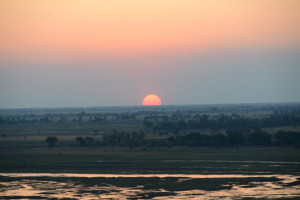 Gorgeous sunset as seen from Muchenje Safari Lodge. It is looking out over the Kwando river flood plain on the Botswana Namibia border.