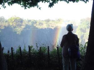 A Victoria Falls rainbow