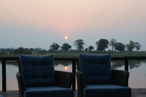 Always welcome after a long hot day, sundowners on the deck.