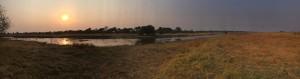 Sunset on the floodplain