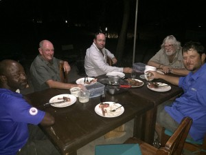 Dinner with friends around a table in Africa. It does not get much better than this.