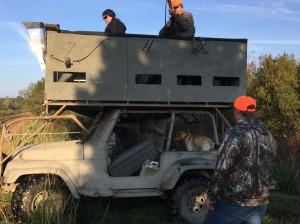 Ever seen a two story Jeep?  A perfect mobile two story observation and hunting tower.