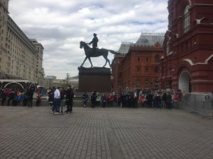 Monument to Marshal Zhukov at the entrance to Red Square