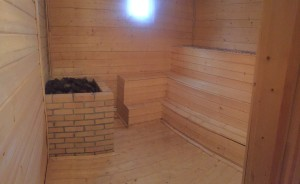 The hottest sauna I have ever been in.